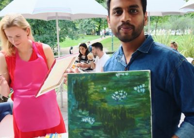 pennellino painting event monet