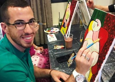 paint like picasso painting party