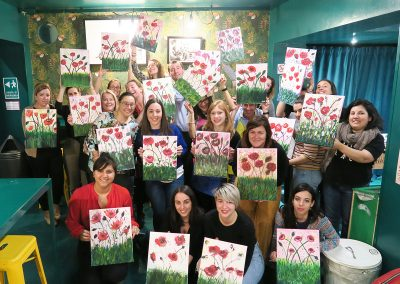 pennellino painting event milano poppies 02
