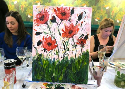 pennellino painting event milano poppies